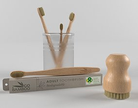 Bamboo toothbrush 3D model