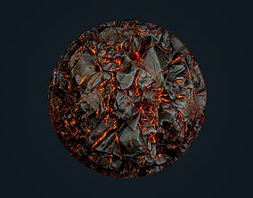 Lava Ground Seamless PBR Texture 06 3D