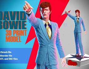 David Bowie 3D print model
