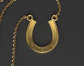 Simple horseshoe pendant Clear 3D printable model