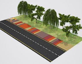 3D architecture sidewalk