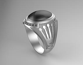 Gentleman Ring With Rolex logo side 3D printable model