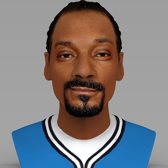 Snoop Dogg bust for full color 3D printing