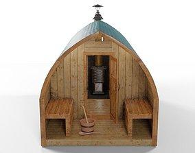 Sauna with Oven 3D model