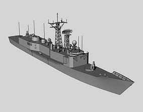 3D asset FFG7 Oliver Hazard Perry class frigate