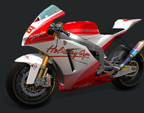 Bike Racing Moriwaki 3D asset
