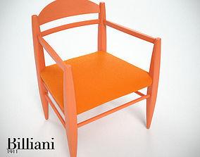 3D Billiani Vincent VG lounge chair toffoloni