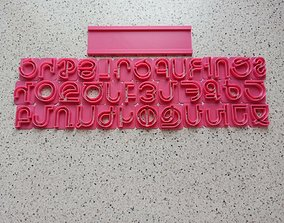 3D printable model cookie cutter Armenian alphabet