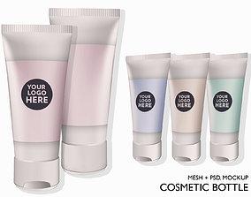 Cosmetic bottle tube 3D asset