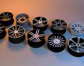 3D asset Car Rim-Wheel pack