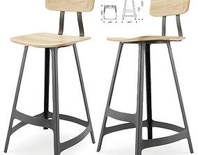 Yardbird stool Sean dix 3D model