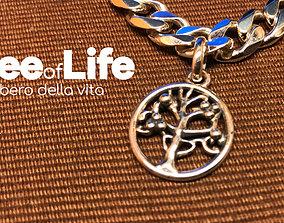 Charm in argento albero della vita 3D print model