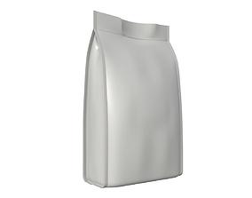 Blank Pet Food Foil Pouch Bag Mock Up 01 3D
