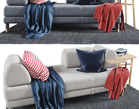 Peachy 3D Model Flottebo Sofa Bed With Side Table Cgtrader Bralicious Painted Fabric Chair Ideas Braliciousco