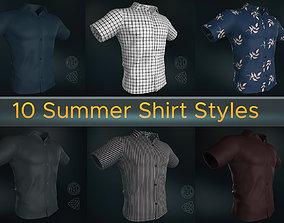 3D PBR 10 Summer Shirt Styles