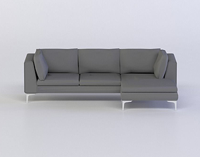 game-ready ALBERO SECTIONAL CHAISE 3D MODEL