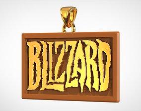 Blizzard Logo Pendant 3D print model