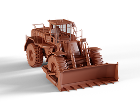 3D model realtime Wheel Dozer