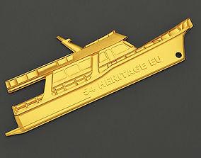 3D print model Yacht Key chain 3