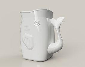pot 3D printable model whale