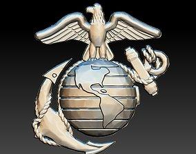 USA Marines Insignia CNC Eagle Globe artcam aspire 3D