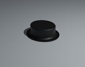 Low Poly Felt Hat 3D asset