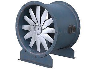 Axial Flow Fan 2 Old 3D asset
