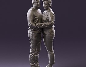 001016 man in gray top holding hands blonde woman 3D 2