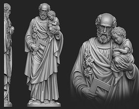 3D printable model Saint Joseph Bas-Relief