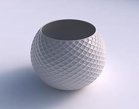 Bowl spheric with diagonal grid dents 3D print model