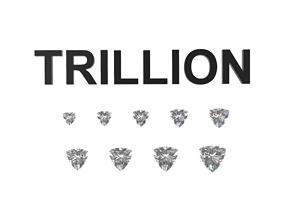 Diamond - Trillion 3D printable model