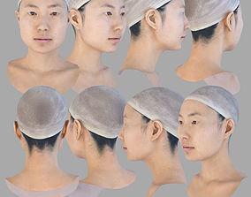 AAA Quality Asian Female Head Scan 3D asset