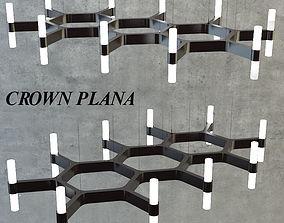 3D chandelier Crown plana
