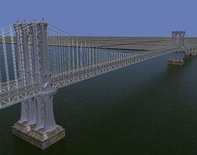 3D Manhattan Bridge New york