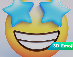 Star-Struck 3D Emoji low-poly