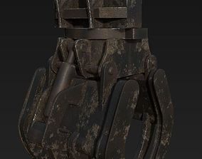 Construction Grapple Claw HighPoly 3D