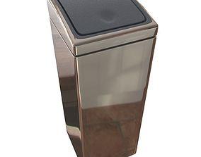 3D model Touch Bin 25 Litre - Brilliant Steel