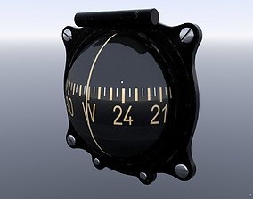 3D model GERMAN MAGNETIC COMPASS GAUGE
