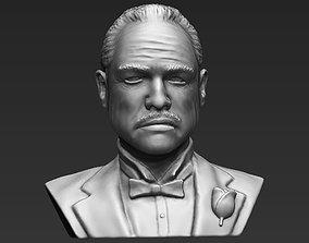 Marlon Brando Godfather bust 3D printing ready stl obj