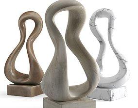 Modern Decorative Abstract Art Sculpture 04 3D model