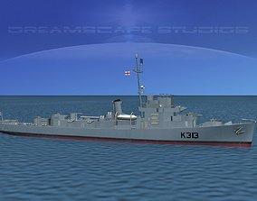 UK Captains Class Frigate Blackwood 3D