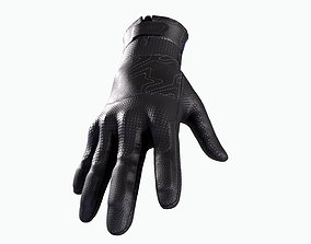 3D model game-ready Motorcycle Gloves
