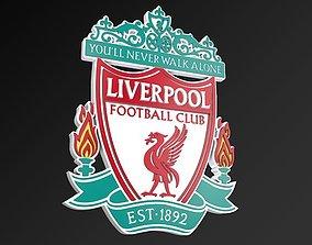 game-ready Liverpool FC Football Club 3D Logo