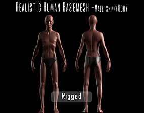 3D model Realistic Human Basemesh - Rigged - UVMapped - 2