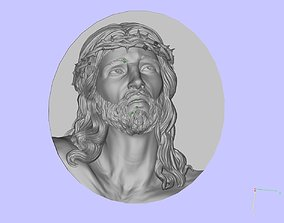 jesus head 3D print model badges