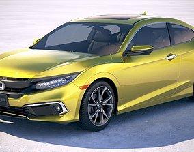 3D model Honda Civic Coupe LED 2019