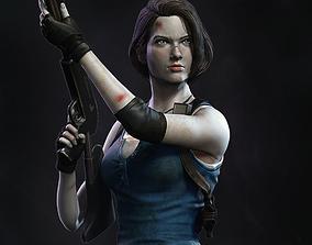 Jill Valentine Statue - Resident Evil 3D print model