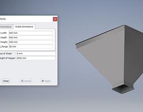 Parametric Hopper - Manufacturable 3D