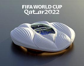 alwakrah aljanoub stadium-qatar 2022 world 3D model 1
