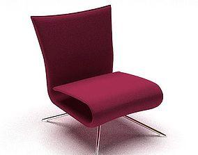 Modern Purple Chair 3D